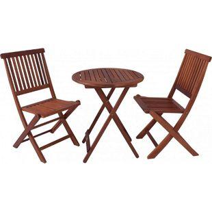 Garden Pleasure Balkontischgruppe Holz Tisch Stuhl Klapptisch Klappstuhl massiv