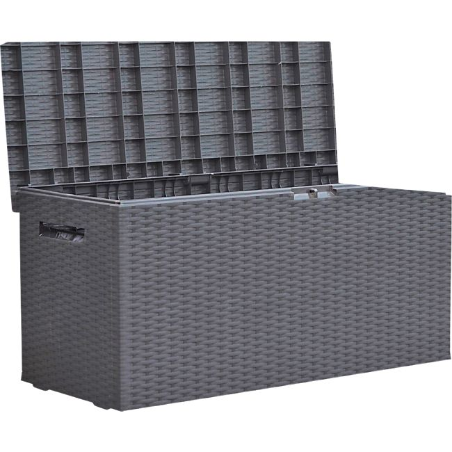 Fabulous Auflagenbox Rattan Optik Gartenbox Gartentruhe Auflagen Kissen ZS72