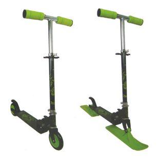 2in1 Scooter Schlitten Roller 120 mm Rollen Tretroller Cityroller ABEC 5 Carbon