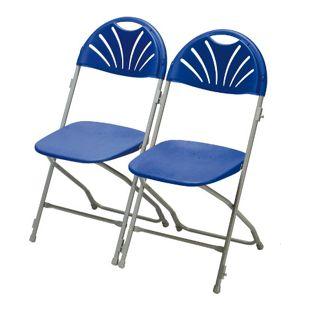 2x Klappstuhl Gartenstuhl Bistro Stuhl Stühle Bankett Stuhlset Camping blau