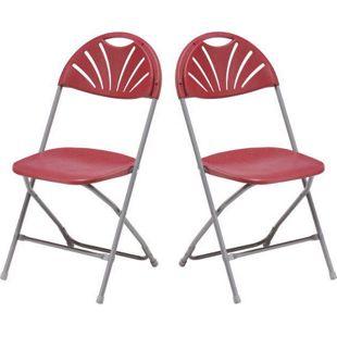 2x Klappstuhl Gartenstuhl Campingstuhl Gastronomie Bistro Stuhl Stühle bordeaux