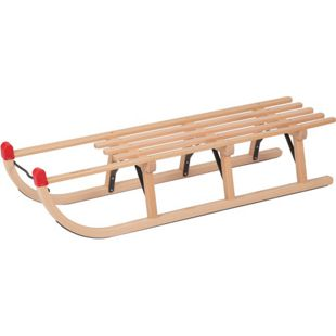Davos Holzschlitten 110cm Rodel Holz massiv Schlitten Rodelschlitten bis 180kg