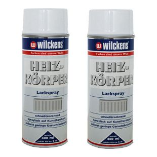 2 x Spraydose Heizkörper Lackspray weiß glänzend 400ml Alkydharzlack