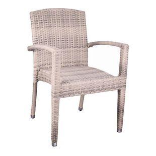 Premium Rattan Garten Sessel elfenbein Stuhl Stapelstuhl Stühle Gastro Möbel