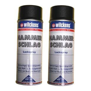 2x Wilckens Hammerschlag Spray Lackspray Lack Spraydose ANTHRAZIT 1L/13,63?