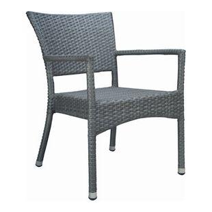 Premium Rattan Sessel grau Gartensessel Garten Stuhl Stühle Gastro Möbel