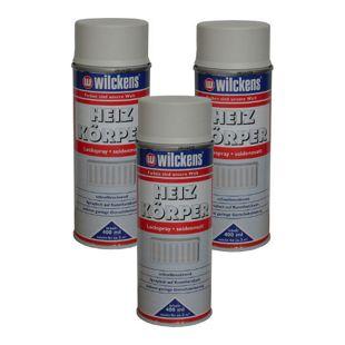 3x Spraydose Heizkörper Lackspray reinweiss matt 400ml Alkydharz 100ml/0,89?