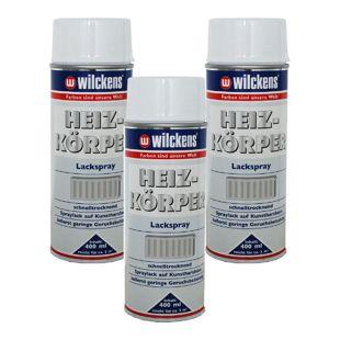 3 x Spraydose Heizkörper Lackspray reinweiss glanz 400ml Alkydharz 100ml/0,89?