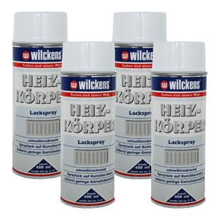 4 x Spraydose Heizkörper Lackspray weiß glänzend 400ml Alkydharzlack 100ml/0,92?