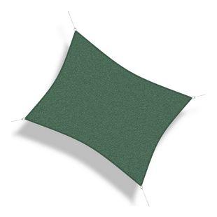 Corasol 160121 Premium Sonnensegel, 3,5 x 4,5 m, Rechteck, wind- & wasserdurchlässig, grün