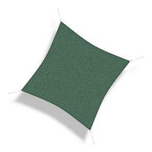 Corasol 160026 Premium Sonnensegel, 5 x 5 m, Quadrat, wind- & wasserdurchlässig, grün