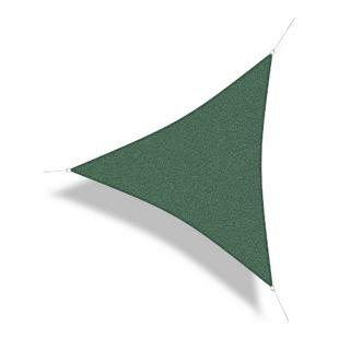 Corasol 160027 Premium Sonnensegel, 5 x 5 x 5 m, Dreieck, wind- & wasserdurchlässig, grün