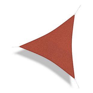 Corasol 160030 Premium Sonnensegel, 5 x 5 x 5 m, Dreieck, wind- & wasserdurchlässig, rot