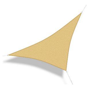 Corasol 160078 Premium Sonnensegel, 3,6 x 3,6 x 5 m, 90° Grad Dreieck, wind- & wasserdurchlässig, sandbeige
