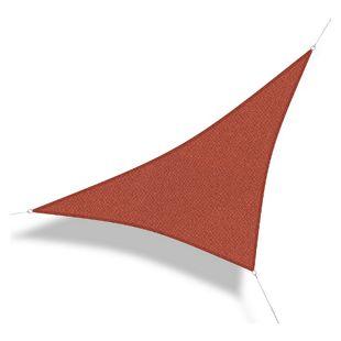Corasol 160088 Premium Sonnensegel, 5 x 5 x 7 m, 90° Grad Dreieck, wind- & wasserdurchlässig, rost-rot