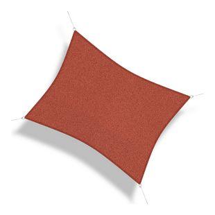 Corasol 160096 Premium Sonnensegel, 6 x 4 m, Rechteck, wind- & wasserdurchlässig, rot