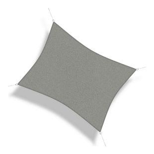 Corasol 160097 Premium Sonnensegel, 6 x 4 m, Rechteck, wind- & wasserdurchlässig, silber-grau