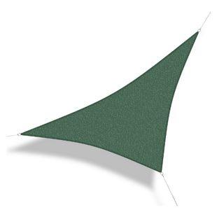 Corasol 160112 Premium Sonnensegel, 3,6 x 3,6 x 5 m, 90° Grad Dreieck, wind- & wasserdurchlässig, grün