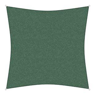 sunprotect 83210 Professional Sonnensegel, 3 x 3 m, Quadrat, wind- & wasserdurchlässig, grün