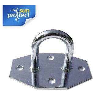 sunprotect 83207 Montage Zubehör für Sonnensegel, Wandöse, verzinkt (1 Stück)