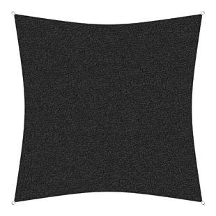 sunprotect 83440 Professional Sonnensegel, 3,6 x 3,6 m, Quadrat, wind- & wasserdurchlässig, schwarz