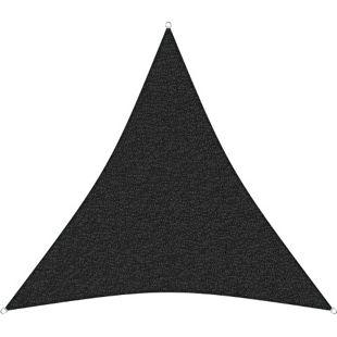 sunprotect 83445 Professional Sonnensegel, 5 x 5 x 5 m, Dreieck, wind- & wasserdurchlässig, schwarz