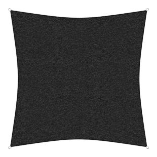 sunprotect 83446 Professional Sonnensegel, 3 x 3 m, Quadrat, wind- & wasserdurchlässig, schwarz