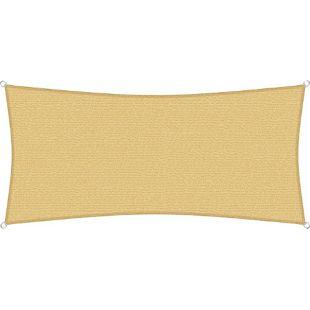 sunprotect 83485 Professional Sonnensegel, 4 x 2 m, Rechteck, wind- & wasserdurchlässig, beige
