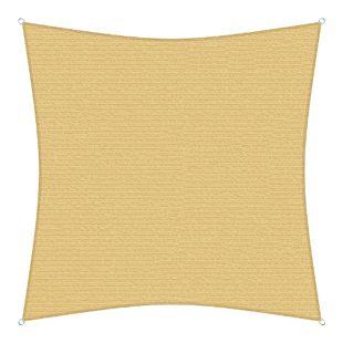 sunprotect 83491 Professional Sonnensegel, 2 x 2 m, Quadrat, wind- & wasserdurchlässig, beige