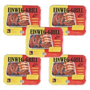 5 Stück TILL-ZÜNDFIX Einweg-Grill Set BBQ Edition
