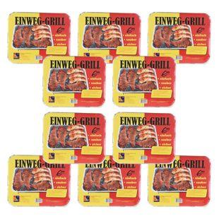 10 Stück Einweg-Grill Set BBQ Edition