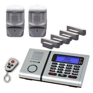 OLYMPIA Protect 6071 Premium Plus Drahtloses Alarmanlagen-Set mit Integrierter Telefonwähleinheit