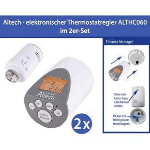 2 Stück Elektronischer Heizkörperthermostat Thermostat Thermostatventil Altech ALTHC060