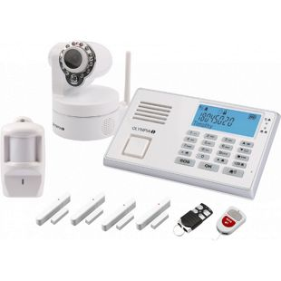 OLYMPIA Drahtloses GSM-Alarmanlagen-Set 9081 mit IP-Kamera
