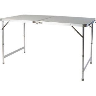 LEX Picknicktisch, 120 x 60 x 55/70 cm, höhenverstellbar, zusammenklappbar, mit Tragegriff