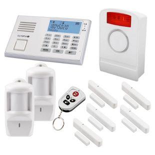 OLYMPIA Protect 9061 Premium Alarmanlagen-Set mit 1 Außensirene, 5 Fenster/Türkontakten und 2 Bewegungsmeldern, Weiß