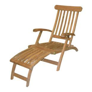 LEX Deck Chair aus Teakholz, mit Edelstahlschrauben, 60 x 93 x 150 cm