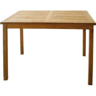 LEX Tisch aus Teakholz, rechteckig, 70 x 90 x 75 cm
