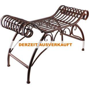 LEX Eisen Sitzbank 89 x 35 x 54 cm, Antik Braun