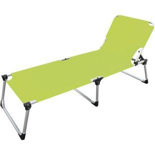 LEX Alu-Sonnenliege Extra hoch Extra lang in Gelb-Grün
