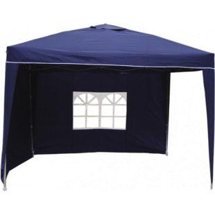 LEX Alu-Pavillon mit 2 Seitenteilen, Blau