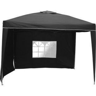 LEX Alu-Pavillon mit 2 Seitenteilen, Schwarz