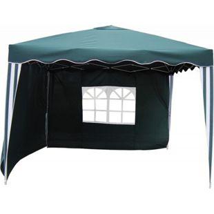 LEX Alu-Pavillon mit 2 Seitenteilen in Grün/Weiß