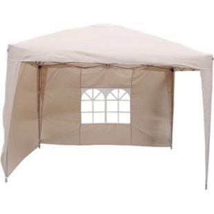 LEX Alu-Pavillon mit 2 Seitenteilen, Beige