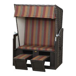 Strandkorb Rustikal 30Z Halbliegemodell 2-Sitzer