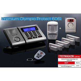 OLYMPIA Protect 6061 Funk Alarmanlage Super-Set mit Außensirene