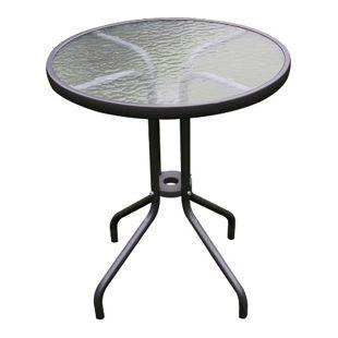 Bistrotisch mit Glasplatte rund 60 cm