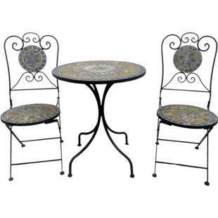 Mosaik Balkon Eisen Set 1 Tisch, 2 Stühle