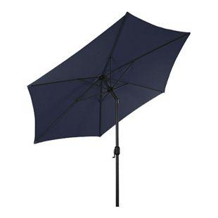 LEX Sonnenschirm mit Knick-Funktion, Blau