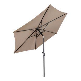 LEX Sonnenschirm mit Knick-Funktion, Taupe